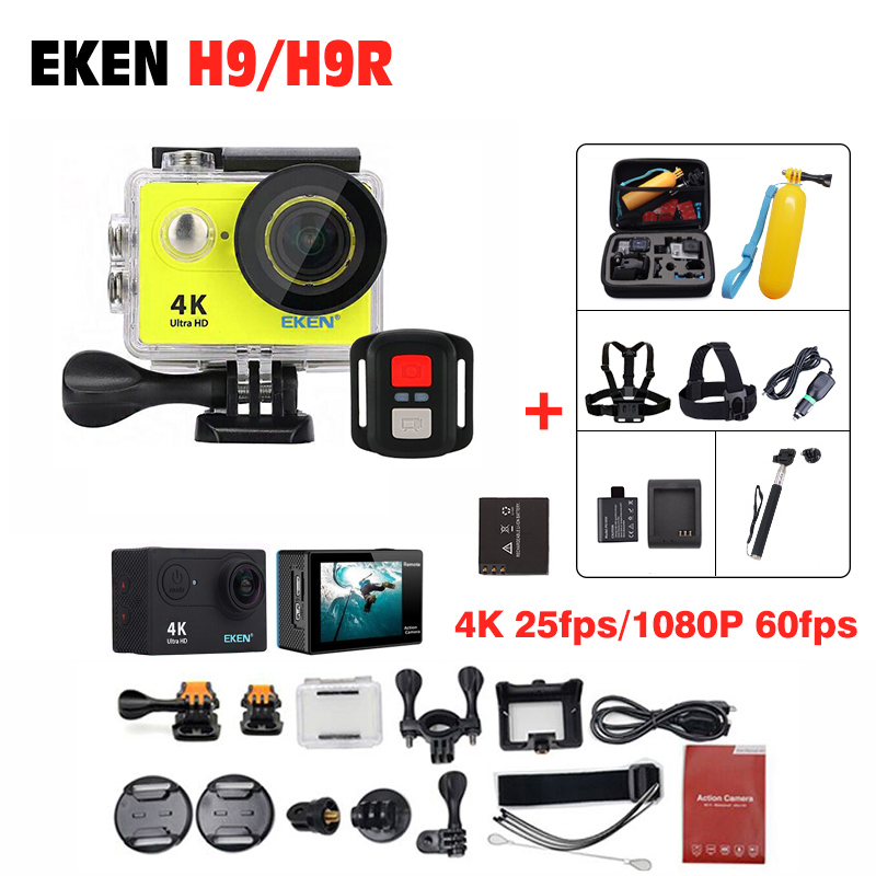 Original EKEN H9 / H9R/ H8R Action Camera 4K Ultra HD waterproof Remote Camera 1080P /60fps 2.0 LCD 170D 4 K pro sport go Camera eken h9r h9 action camera 4k wifi viewing angle 170 degrees 2 0 lcd 30m go waterproof pro sports camera with remote controller