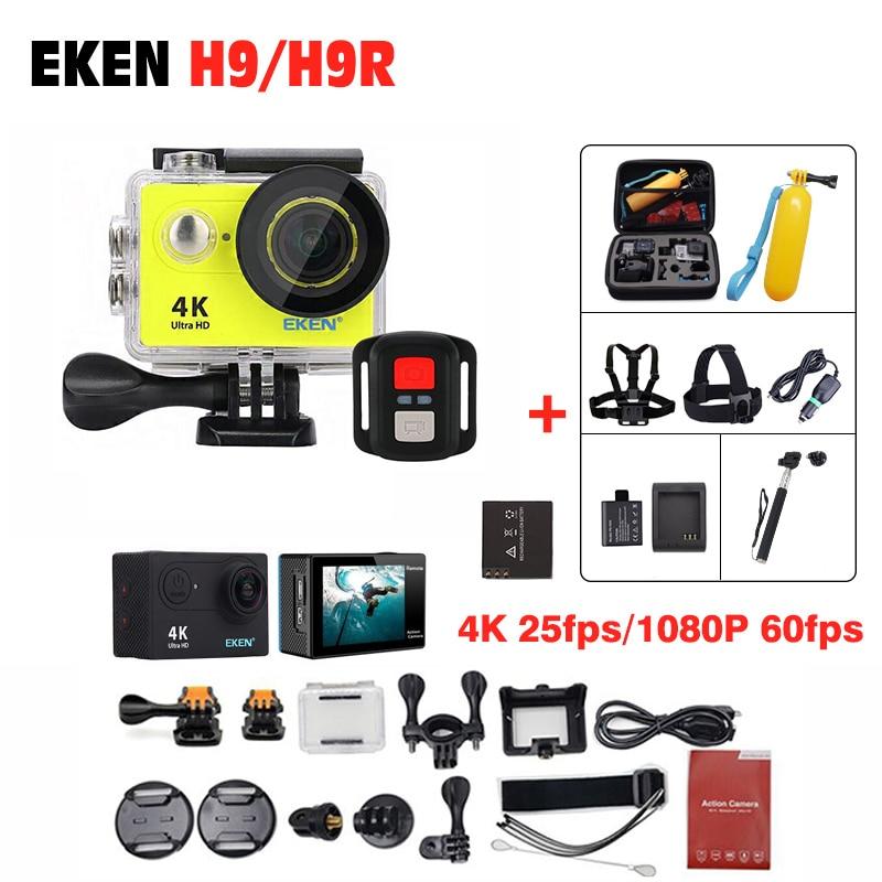 Original EKEN H9 / H9R/ H8R Action Camera 4K Ultra HD waterproof Remote Camera 1080P /60fps 2.0 LCD 170D 4 K pro sport go Camera goodpa h9 h9r action camera remote ultra hd 4k wifi camcorder 1080p 60fps 2 0 lcd 170d helmet go 30m waterproof pro sport camera