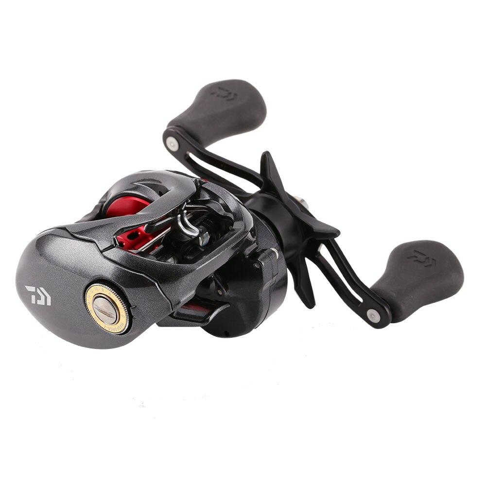 Наживка литья Рыбалка катушка 4 заказы 210 г 6.3: 1 7.3: 1 черный, красный из металла капли воды колеса вправо или левой рукой