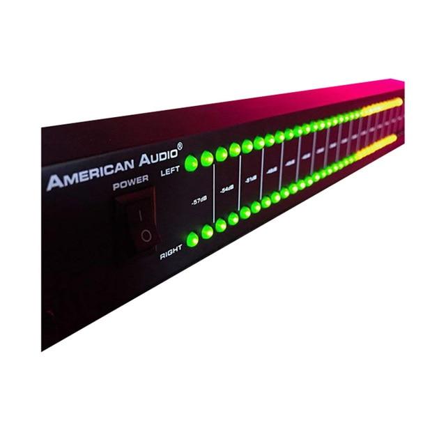 DB100 profesyonel sahne ev amplifikatör hoparlör çift 40 spektrum ses LED Stereo seviyesi göstergesi 57dB 0dB