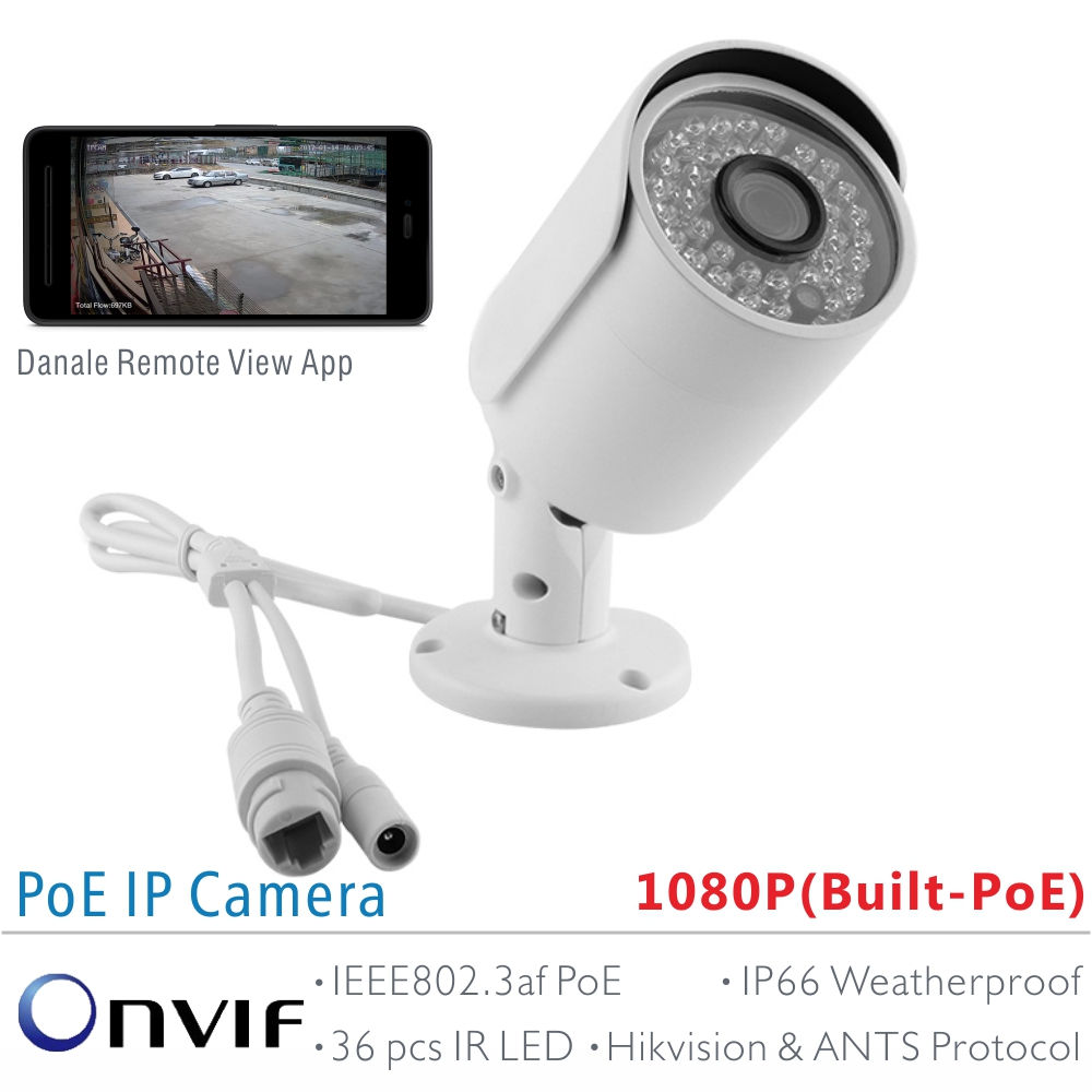US $49 99 |ANTS Full HD 1080P SONY IMX323 Onvif 2 42 outdoor PoE Bullet IP  Camera support ANTS and Hikvision Protocol compatible on Motion-in