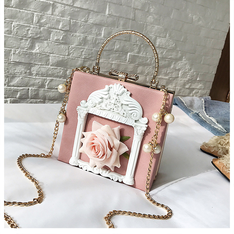 2018 NEW Rose 3D Palace Sculpture Frame Bag Luxury Handbags Women Party Bags Designer Lady Cute Shoulder Messenger Bag Sac Tote 11
