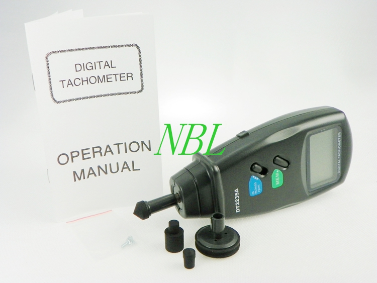 ФОТО High Precision Digital Contact Tachometer 0.5 to 19,999RPM LCD Display Auto Range RPM Meter Data Store Speed Tester Tool DT2235A