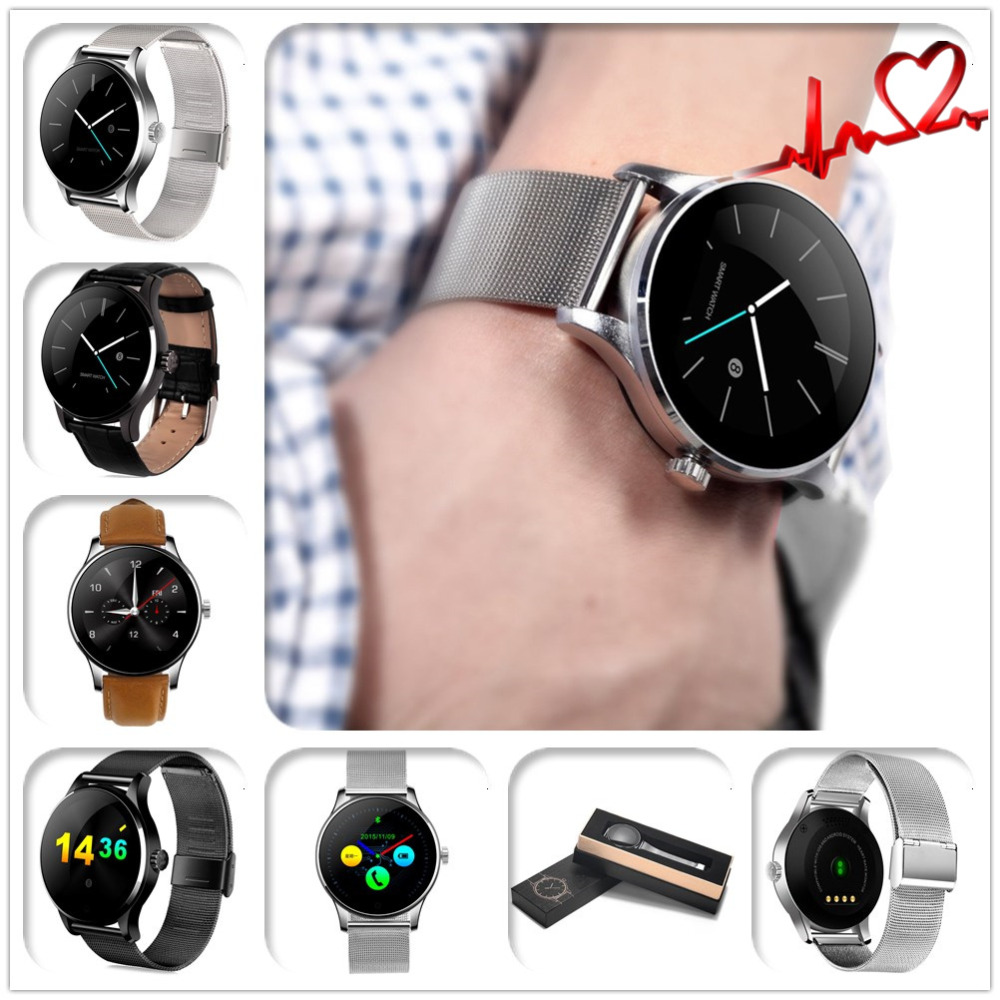 ФОТО Original K88H Smart Watch Track Wristwatch MTK2502 Bluetooth 4.0 Smartwatch Heart Rate Monitor Pedometer Dialing For Android IOS