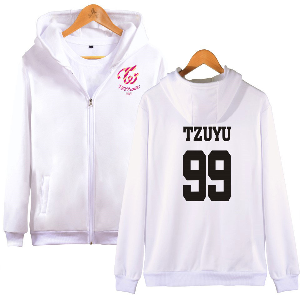 Twice Kpop Sweatshirt Hoodies Women Harajuku Shirt Winter Jacket Women 2019 Cotton Hooded Letter Korean Version Plus Velvet Hoodies & Sweatshirts