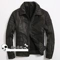 United States M65 Men's leather jackets Collar Slim Sheepskin jacket Locomotive Tanned jacket