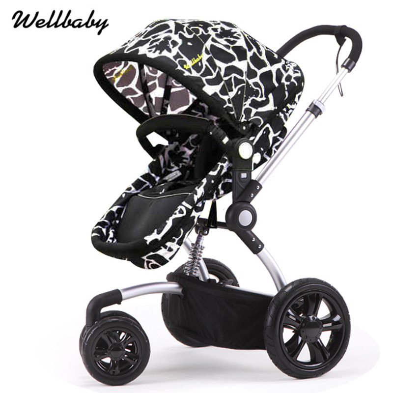 High Landscape Baby Stroller Baby Carriages Baby Carts Can Sit & Lie Down Light Folding Baby Pram Pushchair Children Trolley kds twin baby stroller high landscape two baby trolley hand double fold front and rear can lie luxury umbrella carts