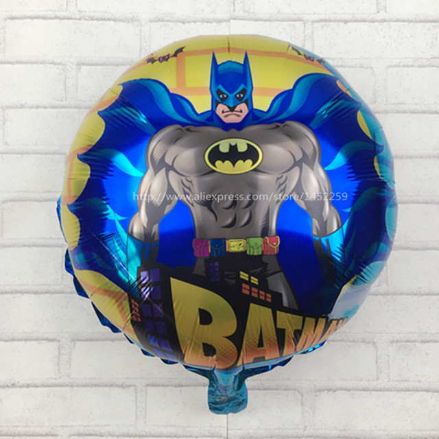 XXPWJ Free shipping 18inch round Batman Balloons Happy Birthday children's toys wholesale party ballons M-010