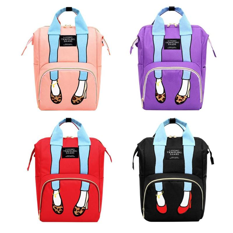 Fashion Diaper Bags Baby Care Mommy Travel Backpacks Large Capacity Maternity Nappy Top-handle Bags Women Backpack Shoulder Bags