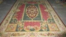 """Darmowa wysyłka """"8'x10 90 liniami Royal Savonnerie dywan ręcznie tkany dywan"""