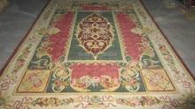 Gratis pengiriman karpet rajutan tangan 8'x10 '90 garis royal savonnerie carpet