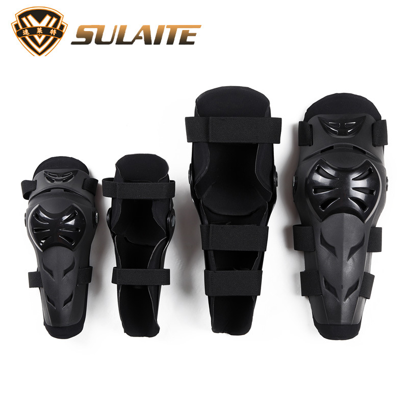 4pcs Sulaite Men's Motorcycle Kneepads & Elbow pads skating Skiing Protective Gears Moto protectors sports protection