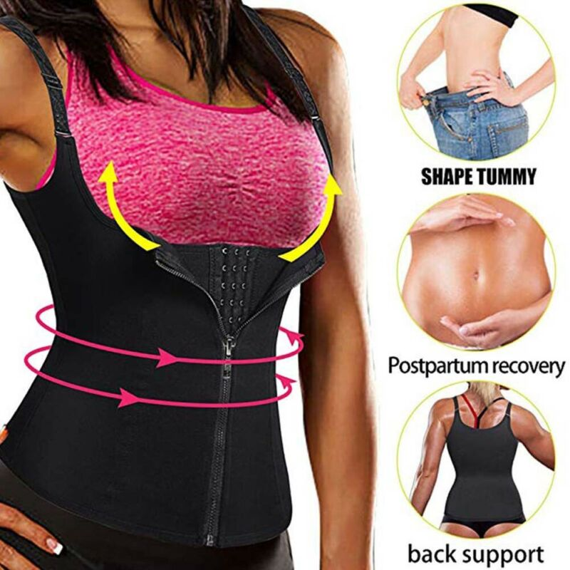 Body Slimming Waist Trainer Cincher Underbust Plus Size Corset Sports