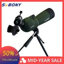 SV28 20-60x60 Spotting Scope Zoom Monocular Hunting Telescope Birdwatch & Universal Phone Adapter Mount Waterproof SVBONY F9308