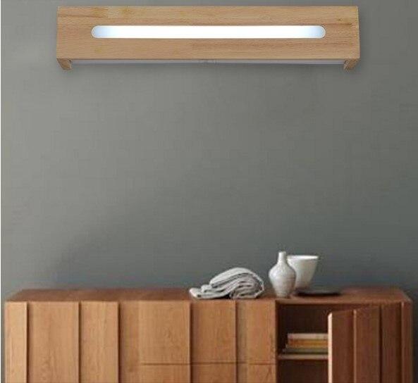 Moderno Simple nórdico madera LED pared accesorios de luz escalera baño  espejo al lado de la 1c304c22810e