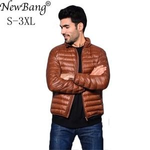 Image 2 - NewBang Brang Mens Down Jacket Ultralight Down Jacket Men Stand Collar Winter Feather Windbreaker Lightweight Warm Thin Parka