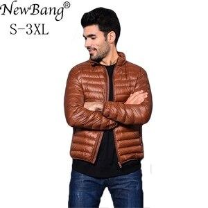 Image 2 - NewBang Brang 男性のダウンジャケット超軽量ダウンジャケットの男性は襟冬羽ウインドブレーカー軽量暖かい薄型パーカー