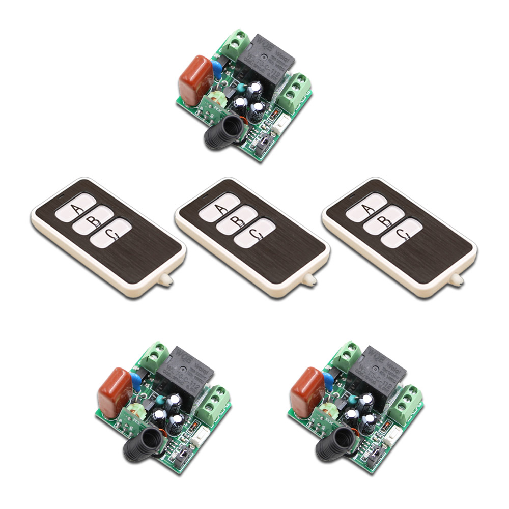 Good Price 100M RF Wireless Remote Control Switch System AC220V 1CH 3pcs Waterproof Transmitter & 3pcs Receiver Mini ac 85v 250v 1ch rf wireless remote control switch system 1 transmitters