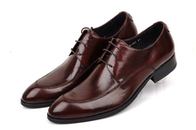 Fashion breathable wine red mens dress shoes genuine leather mens business shoes oxfords mens weddiing shoes formal