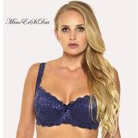 Women Floral Lace Bra For Women Plus Size 34 36 38 40 42 44 D DD