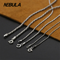 New Fashion Necklace 100% Real Authentic 925 Sterling Silver Necklace Women Men jewelry Classic Thai Silver Rope Chain