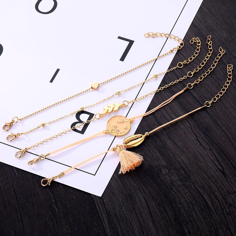 Bohemian-fringed-bracelet-set-