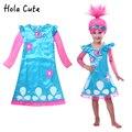 Troll Trajes de Pascua Disfraces Infantiles Para Niñas Fiesta de Carnaval de Disfraces Para Niños Ropa de Verano Vestido de Niña de Trolls de Amapola