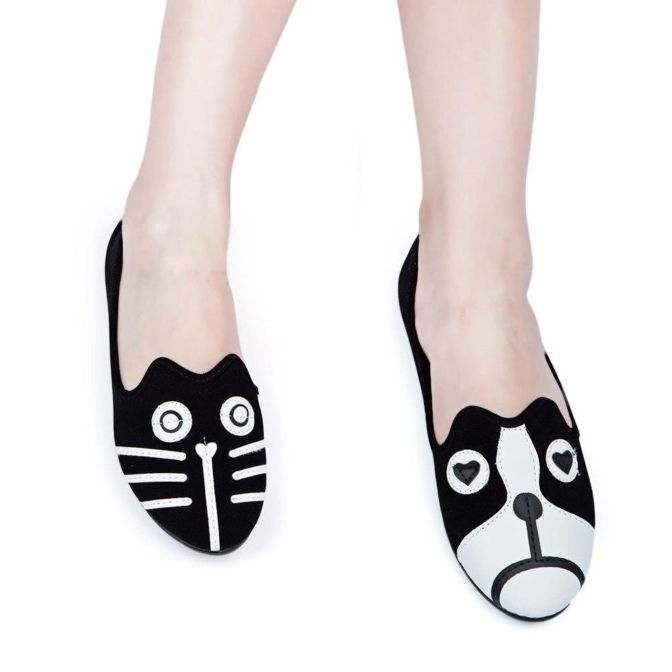 Diseño encantador Cómodo Zapatos Planos Kawaii Muchacha de Las Mujeres Casual Za