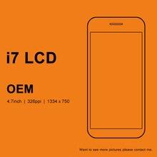 3 قطعة آيفون 7 7G LCD عرض OEM مع الصف ثلاثية الأبعاد شاشة تعمل باللمس محول الأرقام الجمعية استبدال آيفون 7 LCD الأبيض والأسود