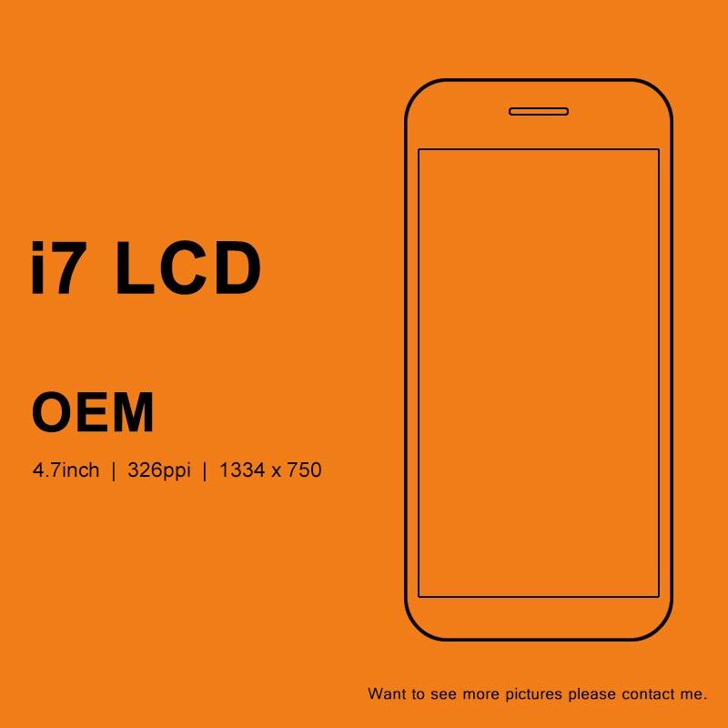 3 pièces pour iphone 7 7G LCD affichage OEM avec Grade 3D écran tactile numériseur assemblée remplacement pour iphone 7 LCD blanc et noir