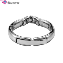 Magnet Cock Ring Metal Penis Sleeve For Male Extender Penis Enlargement Condoms Sex Toys Intimate Goods Ring On The Penis