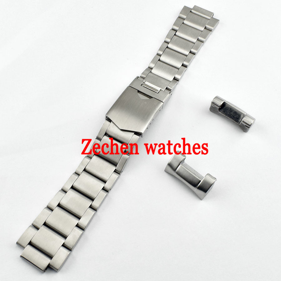 Corgeut 22mm Watch Bracelet 316L Solid Stainless Steel Brushed Watch Bands цена и фото