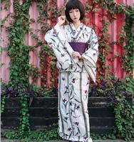 Asian Traditional Standard Kimono bathrobe Japanese fireworks kimono Pure Cotton Yukata With Obi Flower Vintage Evening Dress