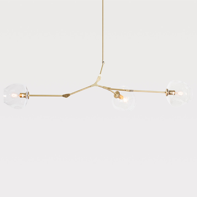 Lindsey adelman 3 heads chandeliers hanging lighting for Suspension nature