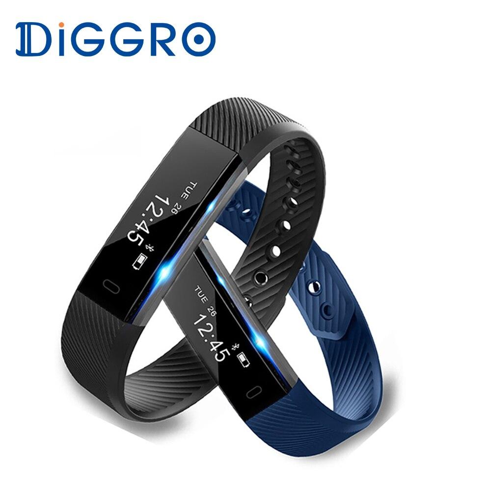 buy diggro id115hr smartband sport heart rate monitor smart bracelet fitness. Black Bedroom Furniture Sets. Home Design Ideas