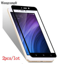 Wangcangli 3d 2pcs/lot for xiaomi redmi 4 pro glass 9h screen Protective film note 4x 4a Pro 5a 9H
