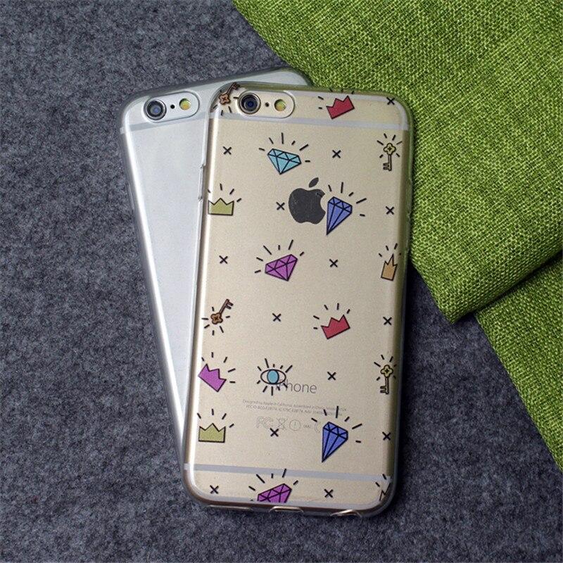 100 шт. Оптовая шапка Алмазная Чехол Для iPhone 5 5S Couqes se 6 6 s 6 плюс 7 плюс 7 Случаи Мягкие TPU Силиконовые Чехлы Capinha Hoesjes
