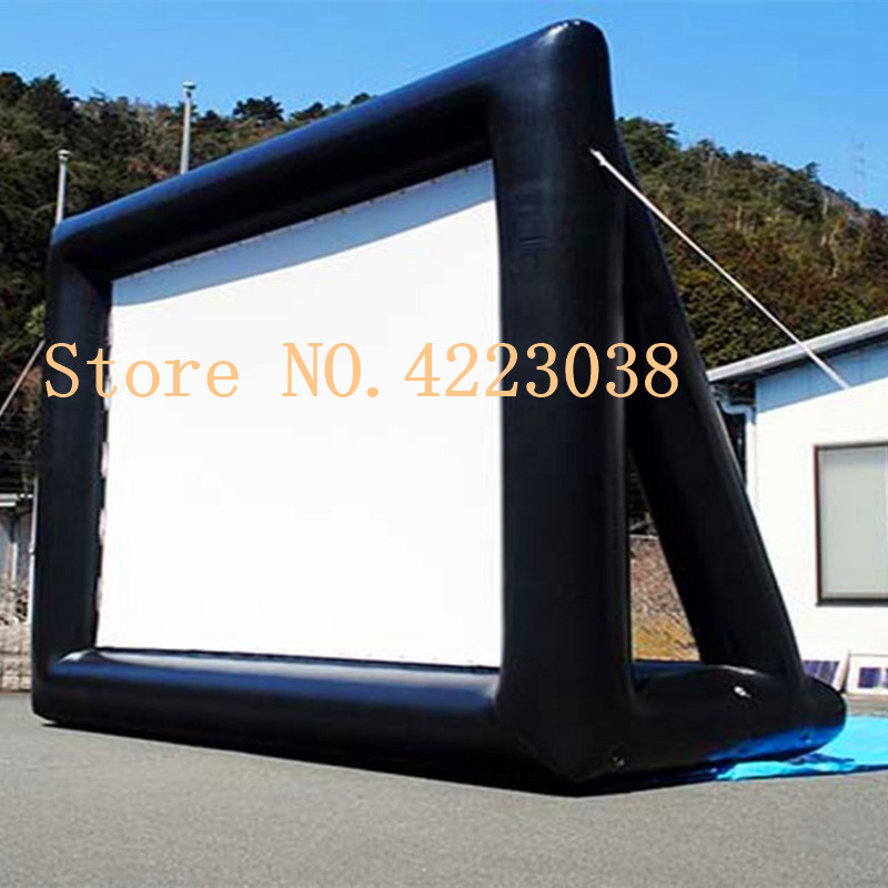 Free shipping Free blower 6mx4m inflatable movie screen inflatable rear projection movie screen inflatable film screen