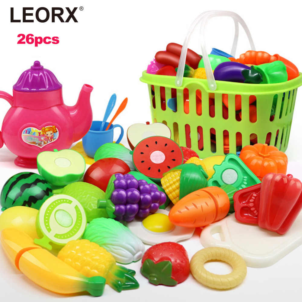 Pretend Play Plastic Food Toy Cutting Fruit Vegetable Food Pretend Play Children For Children 2019 New Arrival