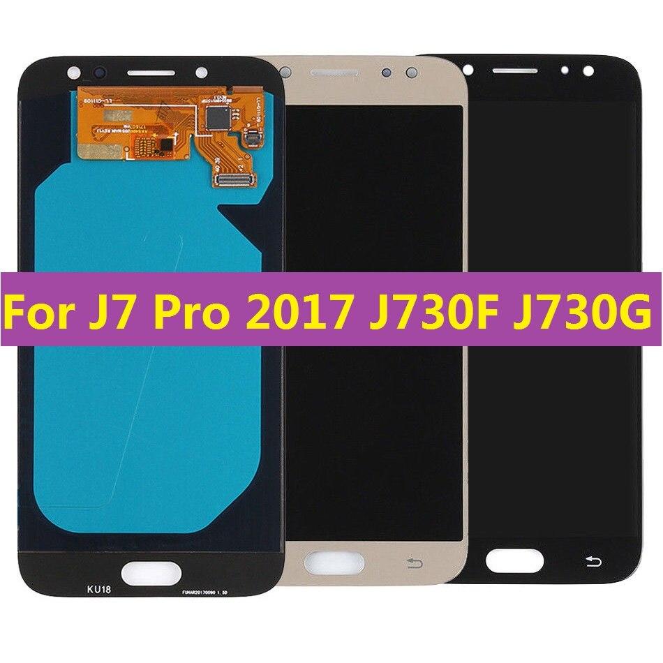 Super Amoled Pour Samsung Galaxy J7 Pro 2017 J730 J730F J730FN J730F/DS LCD Écran Affichage à L'écran Tactile Digitizer assemblée capteur