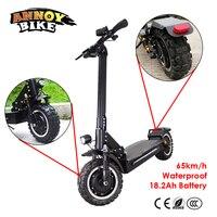 11 дюймов внедорожный электрический скутер 60 В в 2400 Вт 65 км/ч/сильный Мощный Новый складной электрический велосипед складной hoverboad велосипед