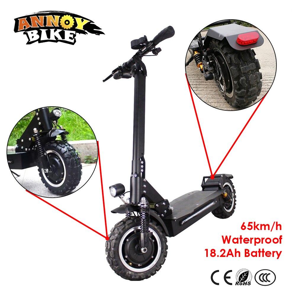 11 pouces Hors Route Scooter Électrique 60 v 2400 w 65 km/h Forte puissant nouveau Pliable Vélo Électrique fois hoverboad vélo scooters