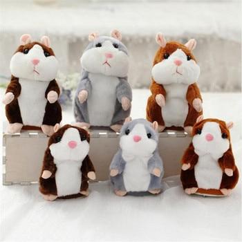 Kuscheltiere Dropshipping 15cm/18cm Lovely Talking Hamster Speak Talk Sound Record Repeat Stuffed Plush Animal Kawaii Hamster Toys Christmas