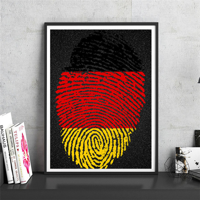 National poster germany krafts paper wall art crafts sticker print picture cafe bar pub design home