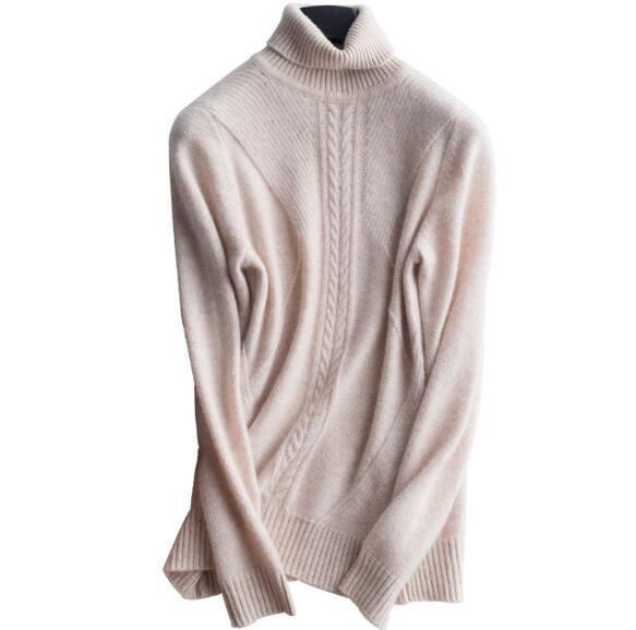 Hiver cachemire + laine épais chandail chaud pour les femmes doux turteneck streetwear pour les femmes