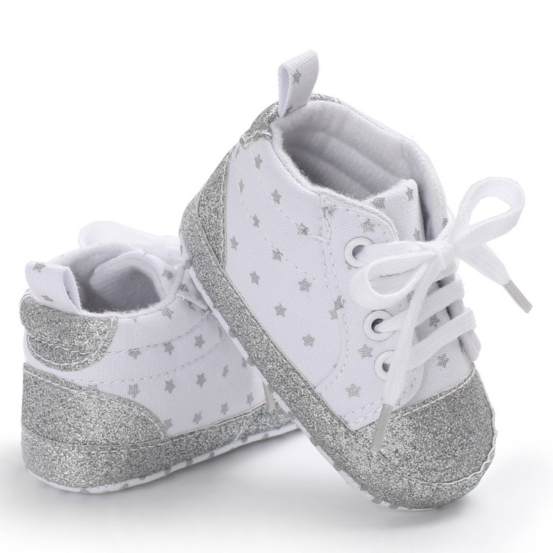 Baby Boy Girl The First Walker Children's Dot Lace Shoes Baby Casual Non-Slip Fashion Toddler Shoes
