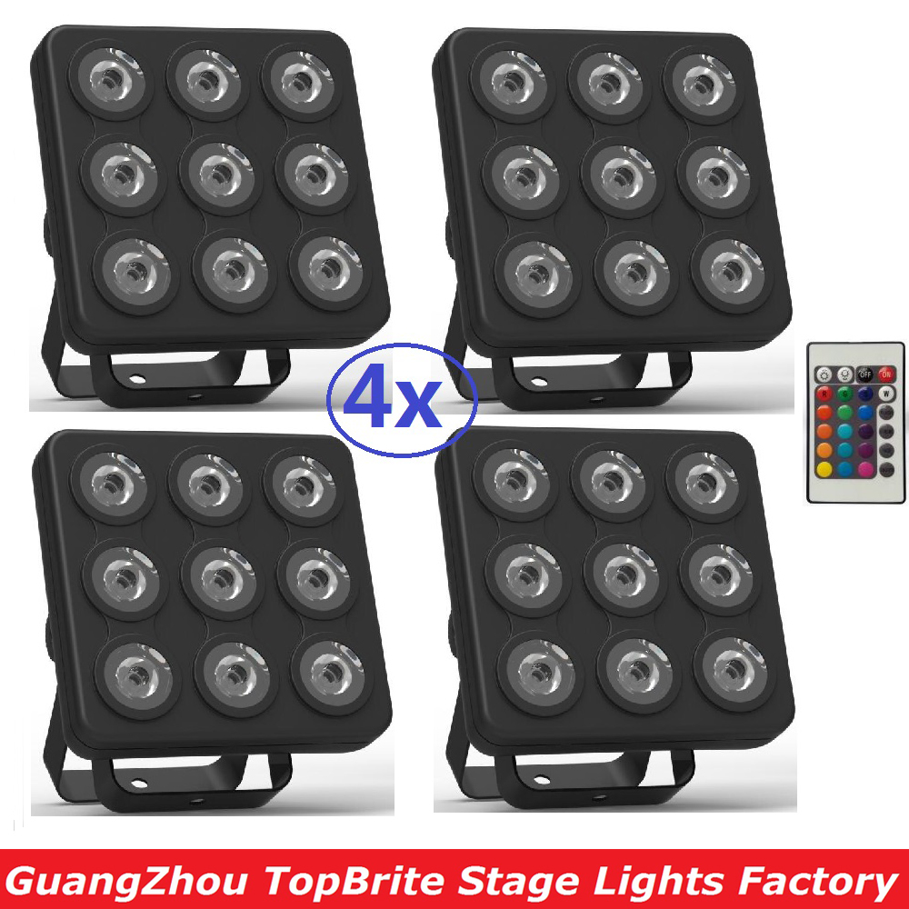 2017 Mini Led Par Light Flat Led Panel Show Stage Effect Lights 9x4W 4in1 RGBW RGBUV DJ Disco DMX Led Beam Wash Strobe Lighting 2xlot 2016 led par can 7x10w rgbw 4in1 quad color mini par led dmx dj disco stage lights 70w moving head strobe effect projector