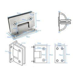 8-12mm zawias do szklanych drzwi łazienka kabina prysznicowa bezramowe wspornik naścienny do montażu na ścianie zawiasy w drzwiach