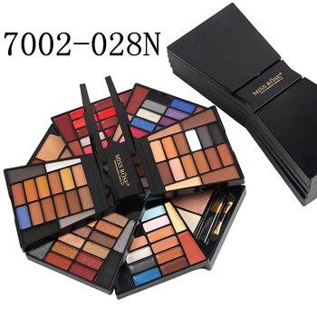 Miss Rose brand professional makeup sets palette 4 layers folding matte eyeshadow nude lipstick blusher highlighter set MS154 Eye Shadow