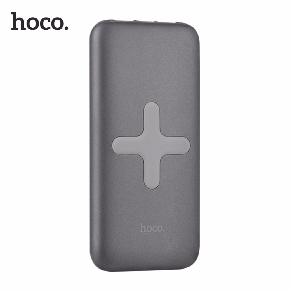 HOCO 8000mAh Wireless Charging Base Power Bank Portable Charger USB Charging Backup Battery For Almost Moblie
